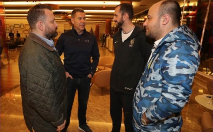 Ramil Guliyev'den futbolcularımıza ziyaret